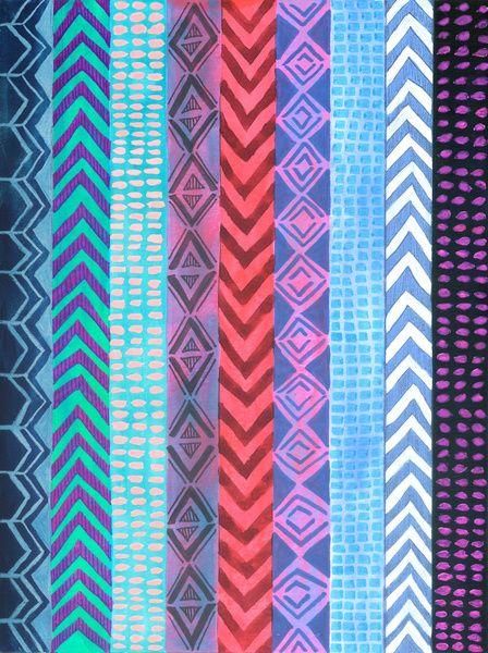 PATTERN {Peru Stripe} Stretched Canvas