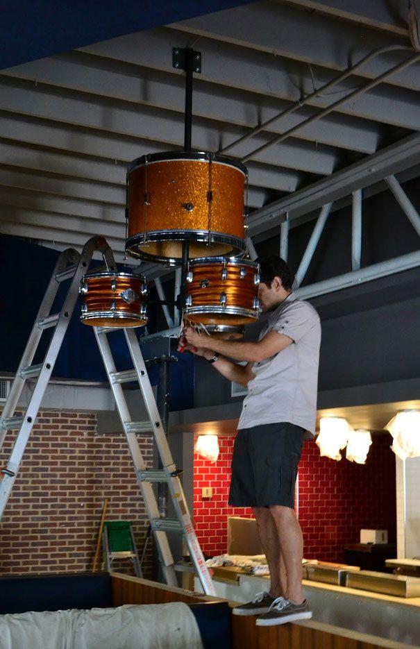 Diy drum kit chandelier drum kit drums and chandeliers diy drum kit chandelier mozeypictures Gallery