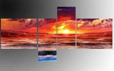 Quadri stampa tramonto arredo moderno salotto idee x la casa