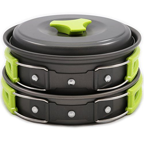 Camping Cookware Mess Kit #Backpacking Gear & Hiking Outdoors Bug Out Bag 10 Piece #Cookset   Lightweigh