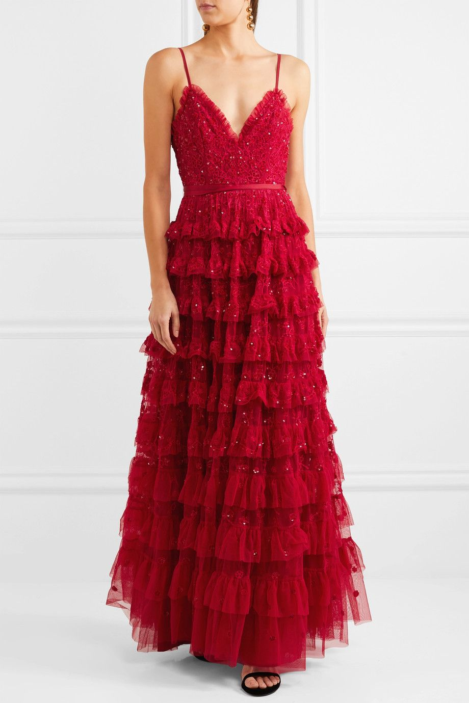 Needle & Thread | Marie tiered embellished tulle gown | NET-A-PORTER.COM