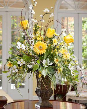Arranjo De Flores Amarelas Com Imagens Arranjos De Flores