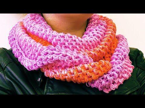 Loop Schal Für Den Frühling Häkeln Schal Mit Tollem Farbverlauf