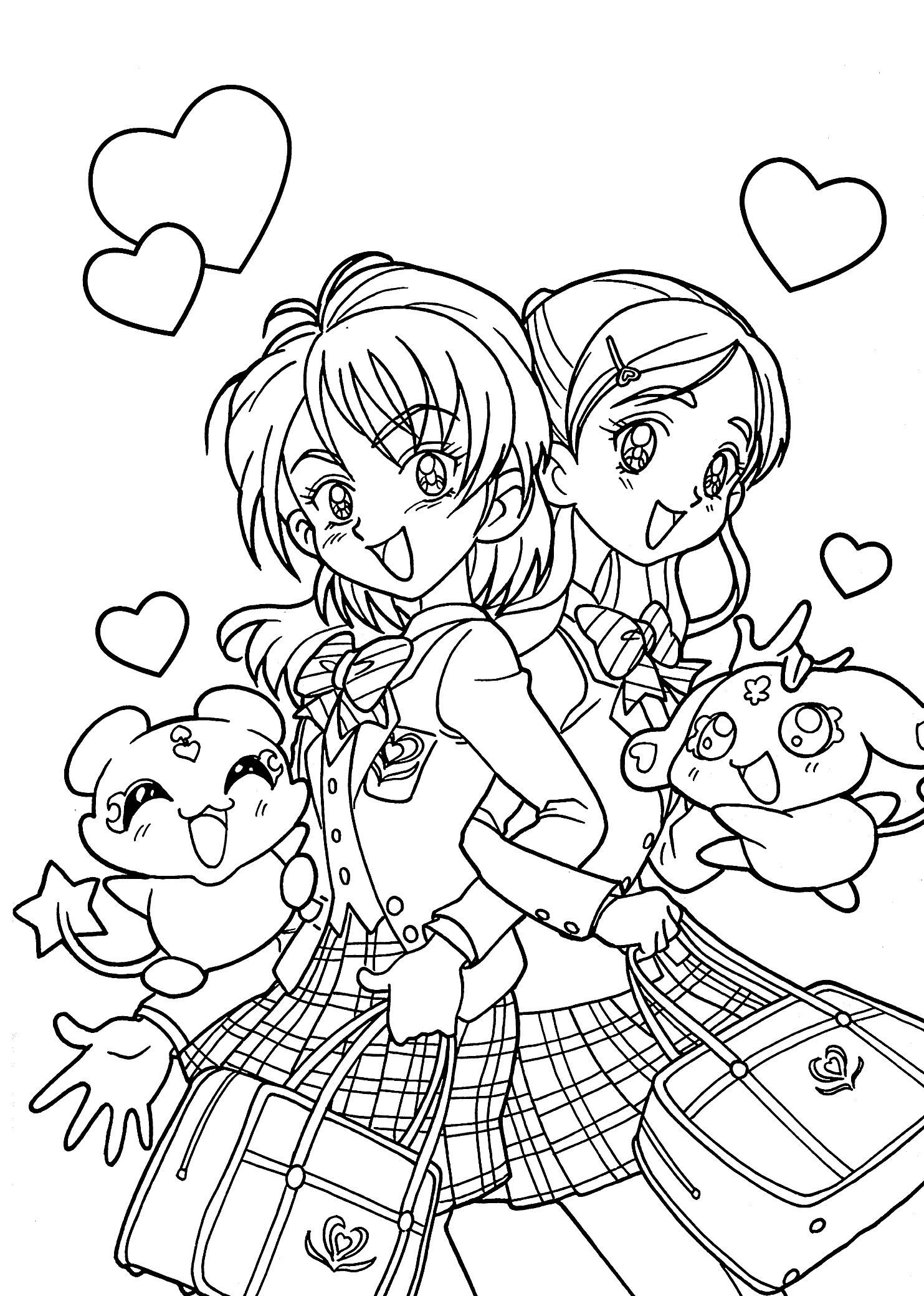 16 Coloring Page Schoolgirl Cute Coloring Pages Manga Coloring Book Coloring Pages [ 2079 x 1483 Pixel ]