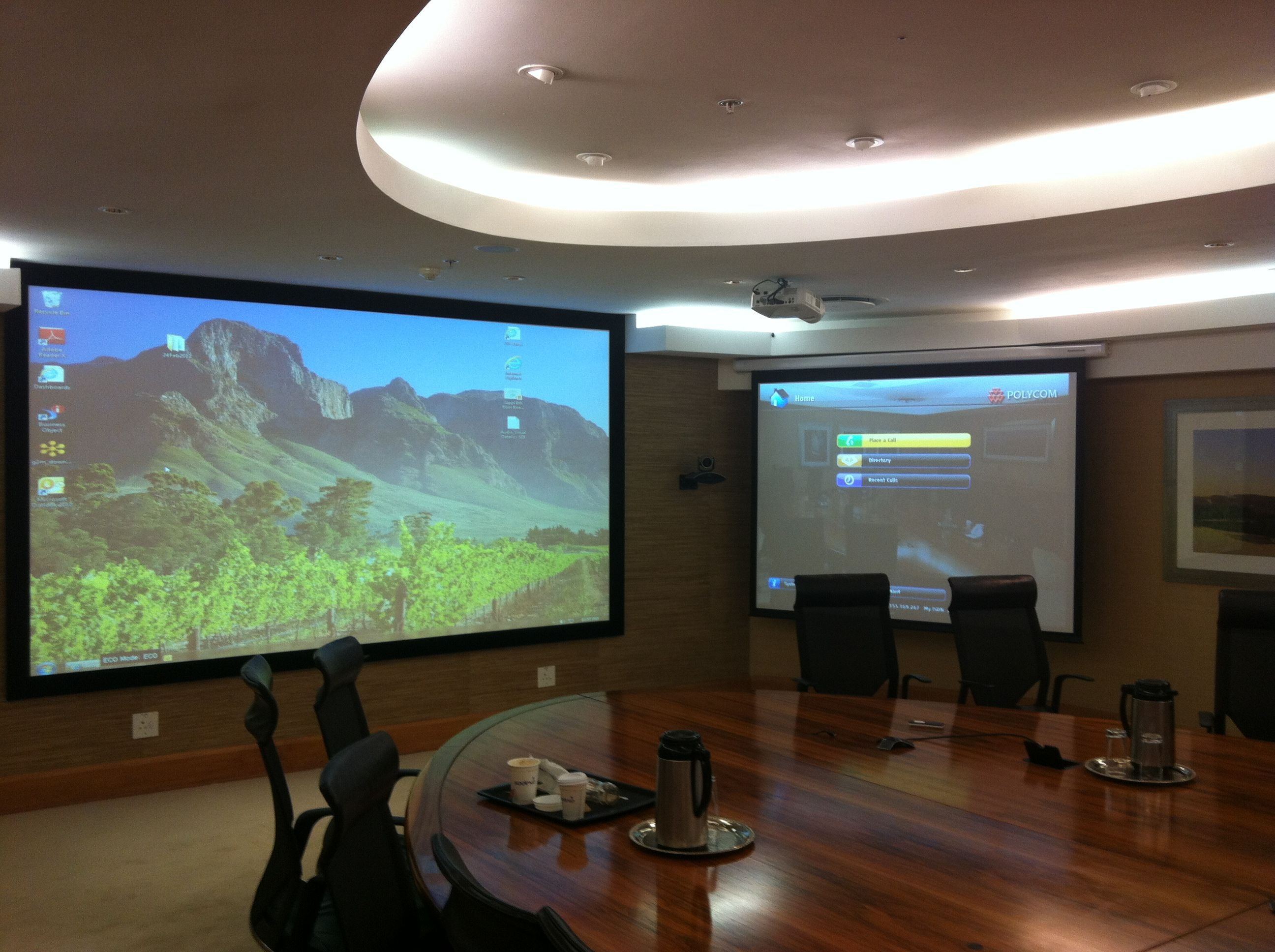Boardroom AV Installation with Crestron Control and Polycom Video ...