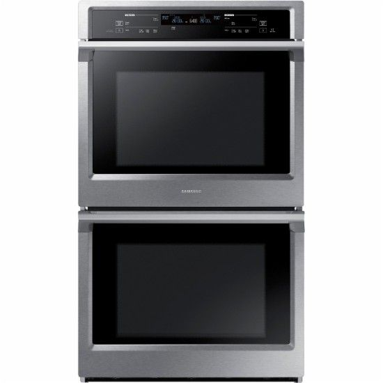 Samsung 30 Quot Double Wall Oven Stainless Steel Front
