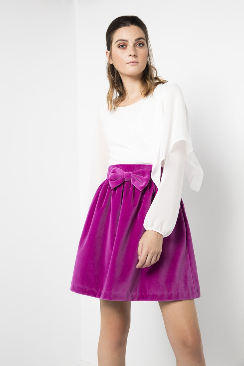 Blusa Ofelia - Falda terciopelo lazo Ofelia shirt - Velvet skirt ...