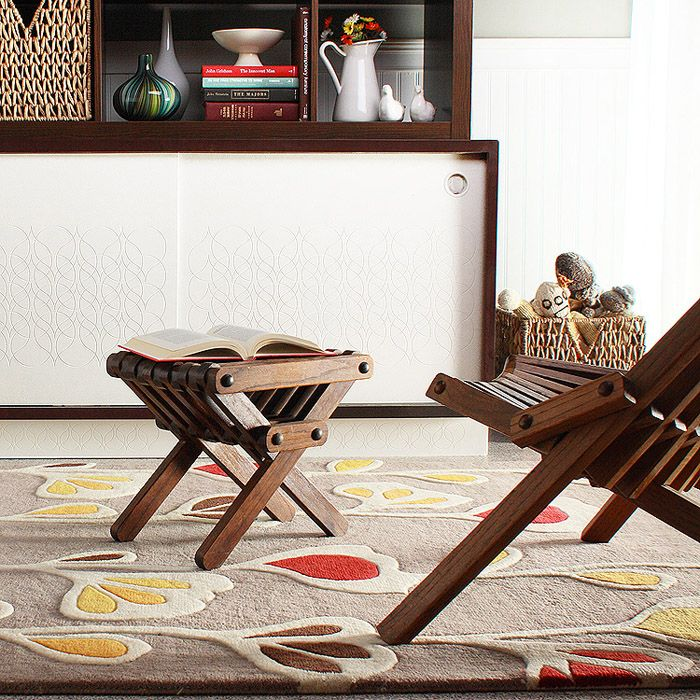 Stencil Wool Rug In Natural And Scarlett By Inhabit Living     Spark Living