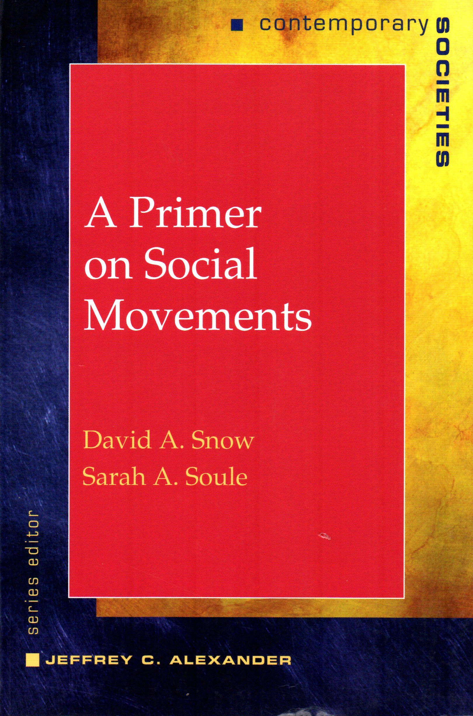 A primer on social movements David A. Snow and Sarah A. Soule.(W.W. Norton & Company, 2010, cop. 2010) / HM 881 S62   Cita bibliográfica: http://www.worldcat.org/title/primer-on-social-movements/oclc/471494508?page=citation