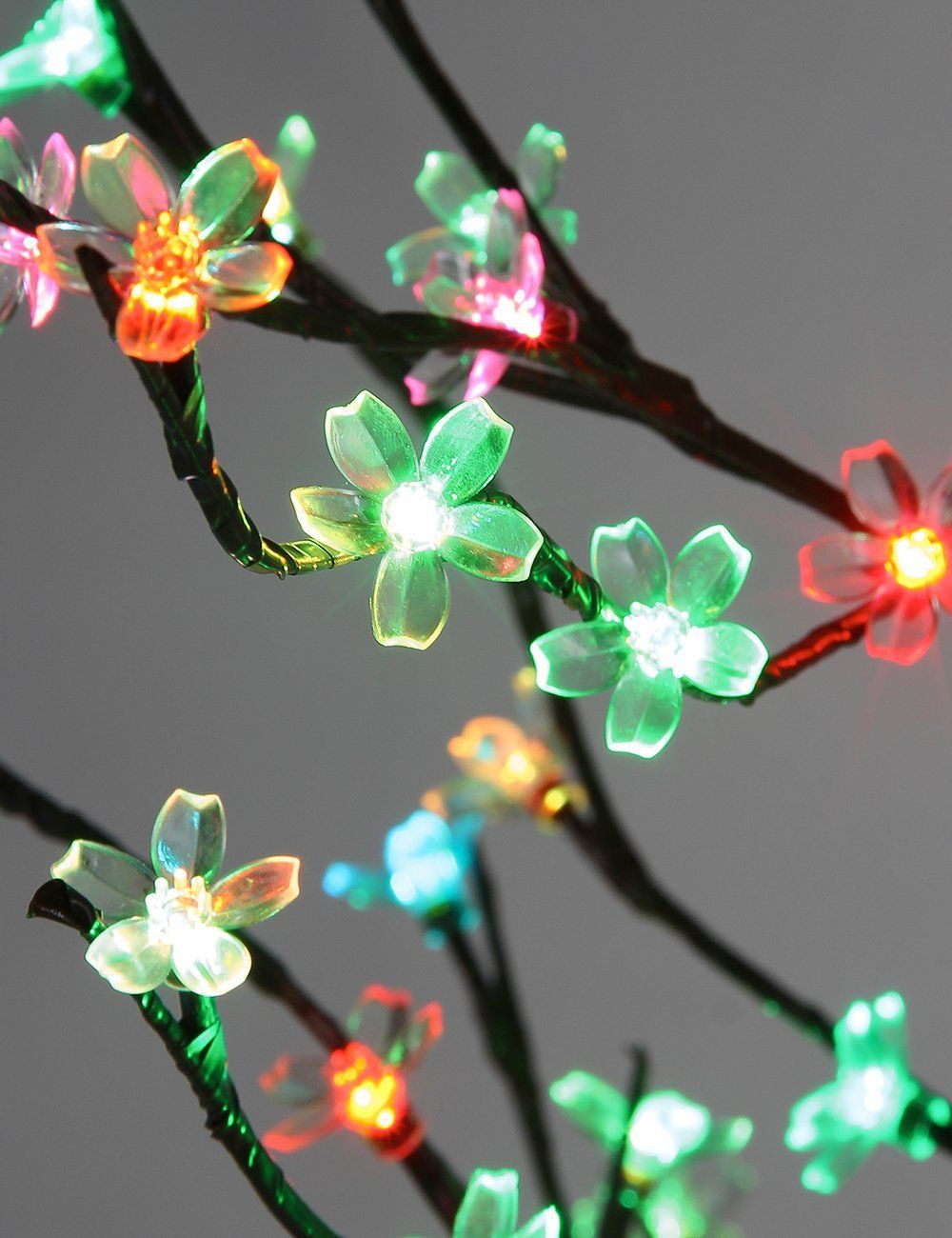 Cherry blossom flowers color changing light tree has 208 LED lights ...