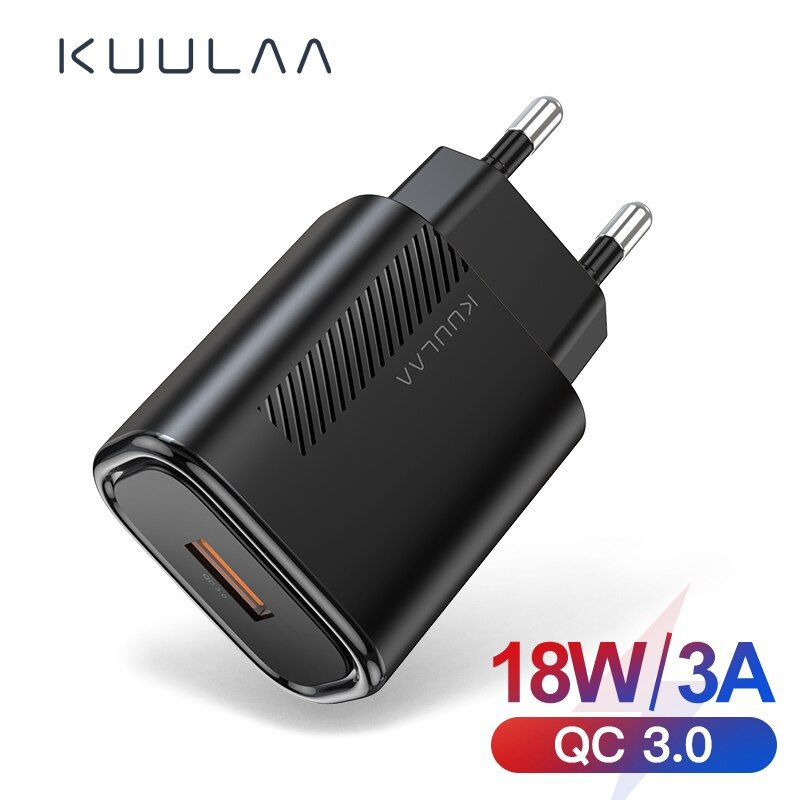 Kuulaa Usb Charger Quick Charge 18w Qc3 0 Fast Wall Charger For Xiaomi Redmi Note 9 8 Iphone 11 Xr 7 Realme X2 Pro Phone Char Usb Adapter Smartphone Gadget Usb