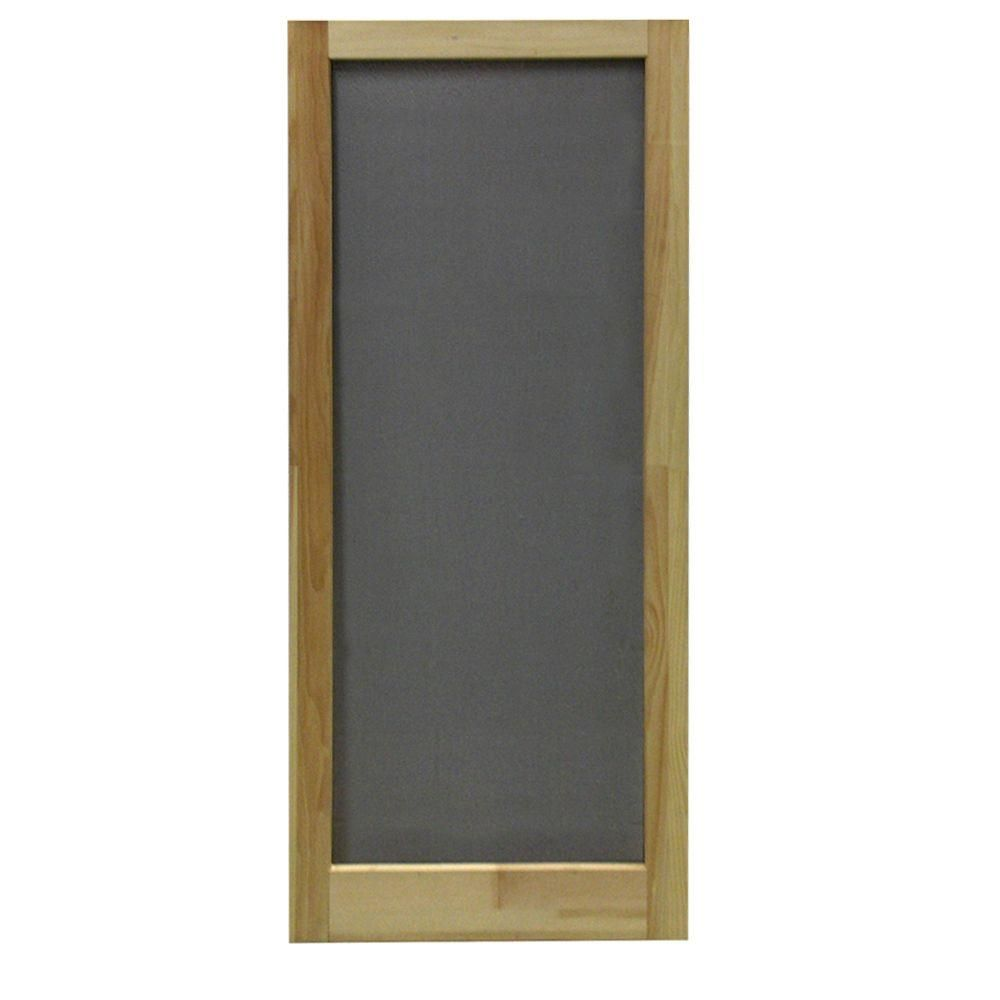 Screen Tight 36 In X 80 In Meadow Wood Unfinished Reversible Hinged Screen Door Wmed36 The Home Depot Wood Screen Door Wooden Screen Door Screen Door