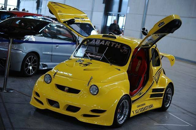 Abarth 500 Gull Wing Doors And Rear Spoiler Two Of These Would
