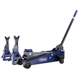 Kobalt 3 Ton Garage Jack And Jack Stands With Laser Kit Kobalt Tools Floor Jack Jack Stands