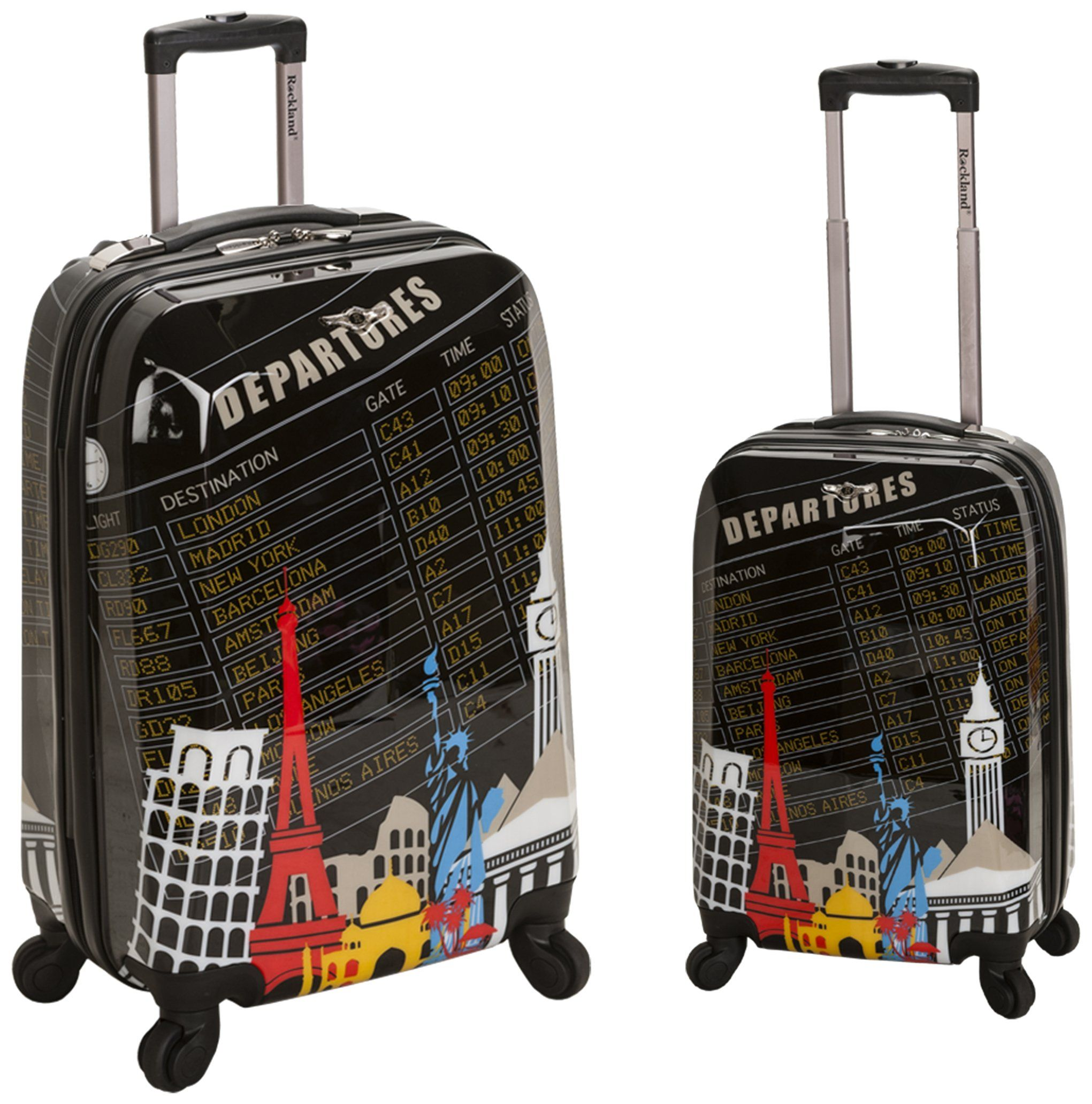 Rockland Luggage 2 Piece Upright Luggage Set, Departure, Medium ...