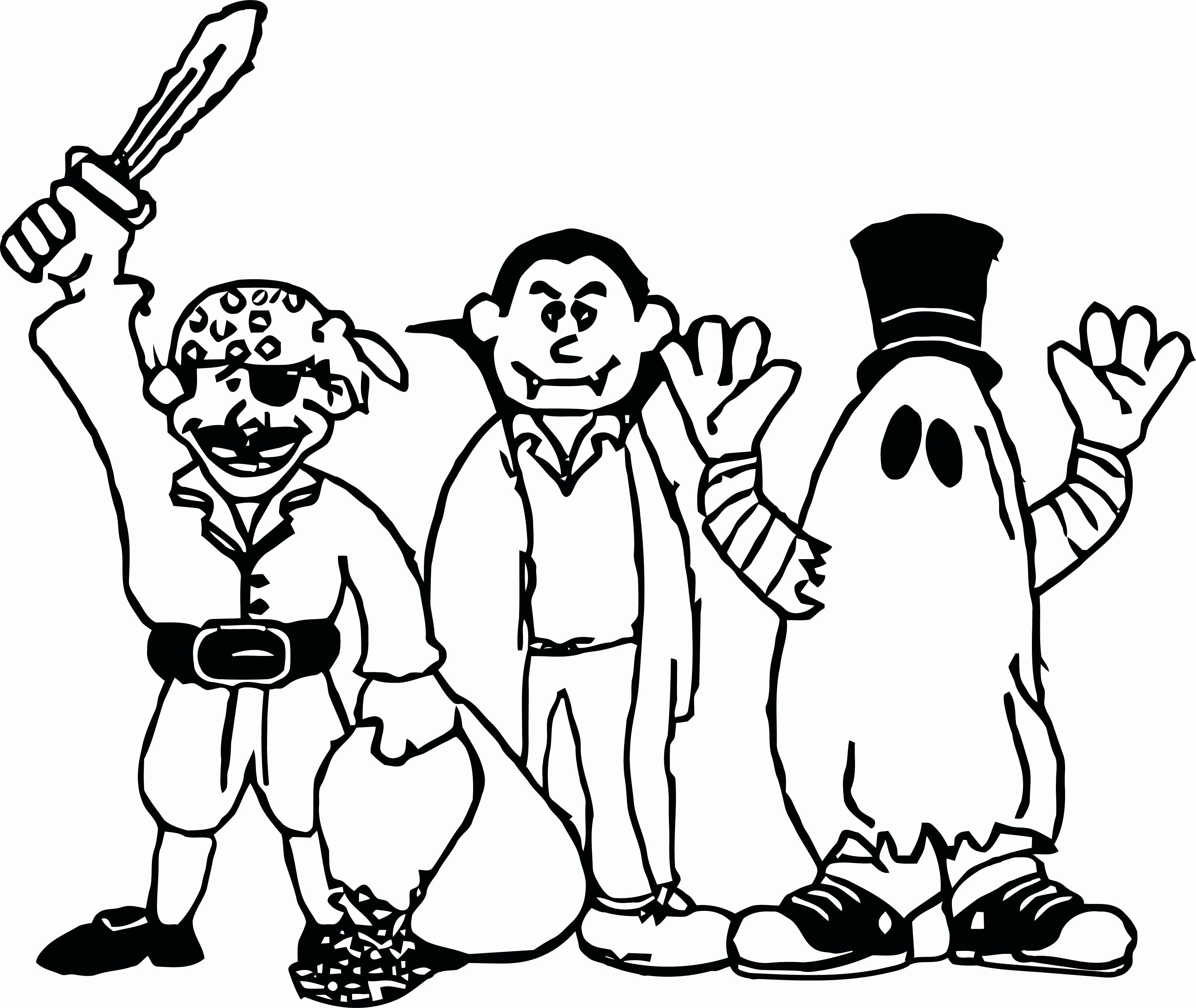 Scary Ghost Coloring Pages Di Dengan Gambar