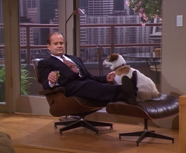 Brilliant Eames Lounge Chair And Ottoman With Frasier And Eddy Alphanode Cool Chair Designs And Ideas Alphanodeonline