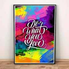 Do What You Love Quotes Inspirational Motivational Decor Office Art