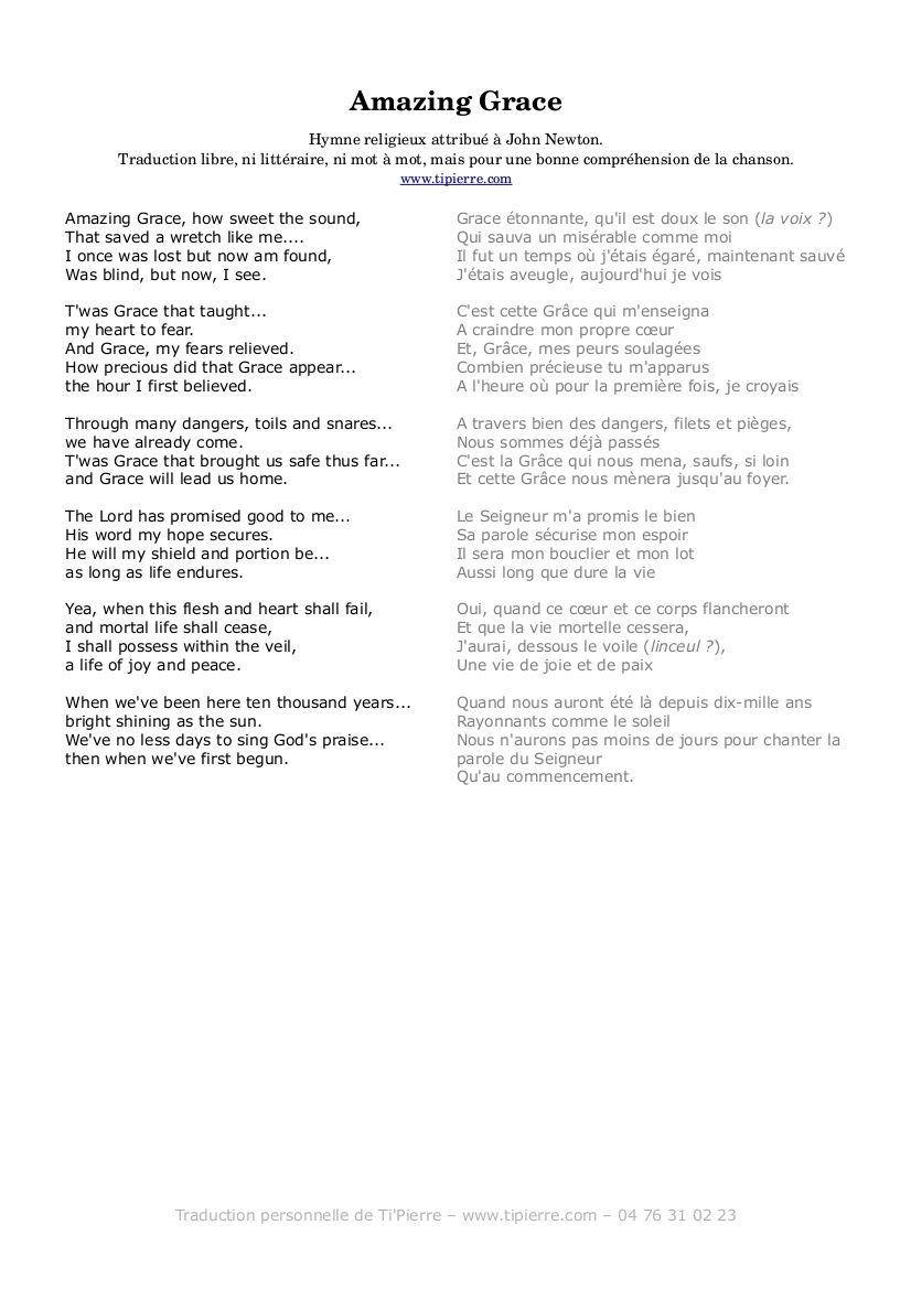 parole chanson traduction