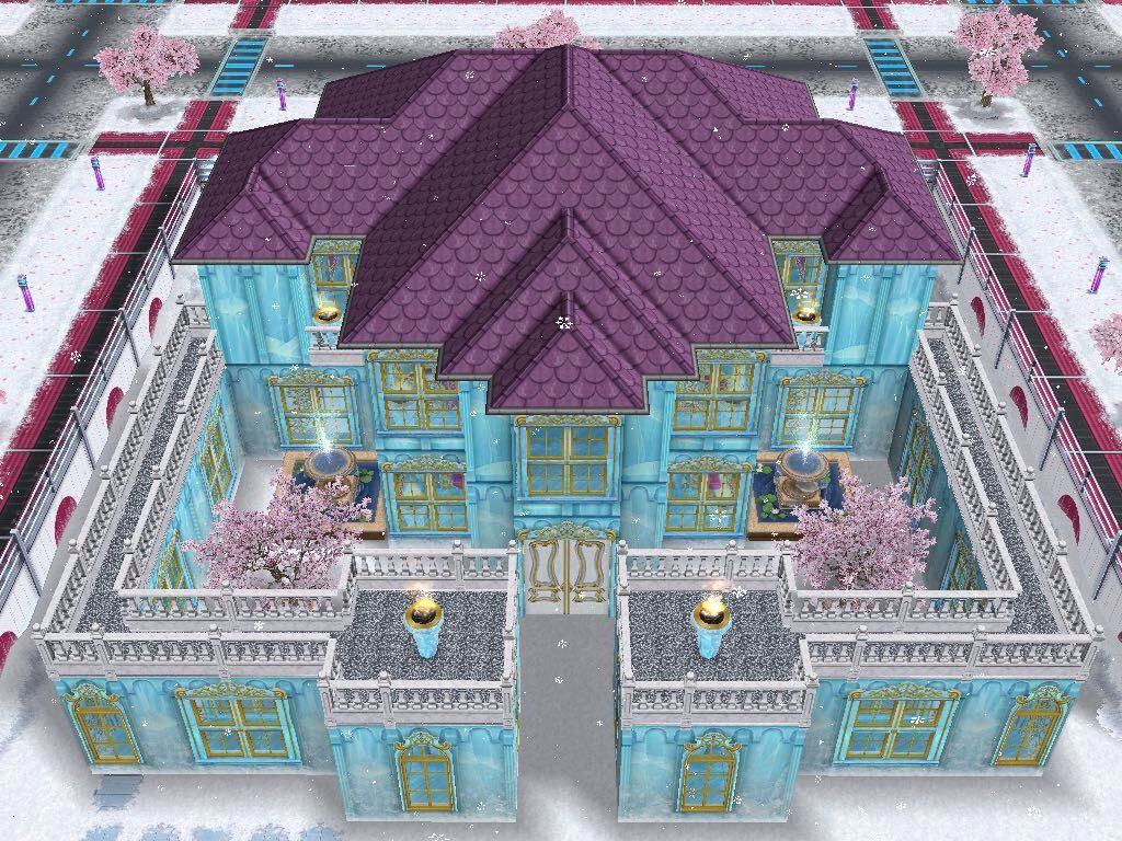 house 69 (frozen castle) full view #sims #simsfreeplay