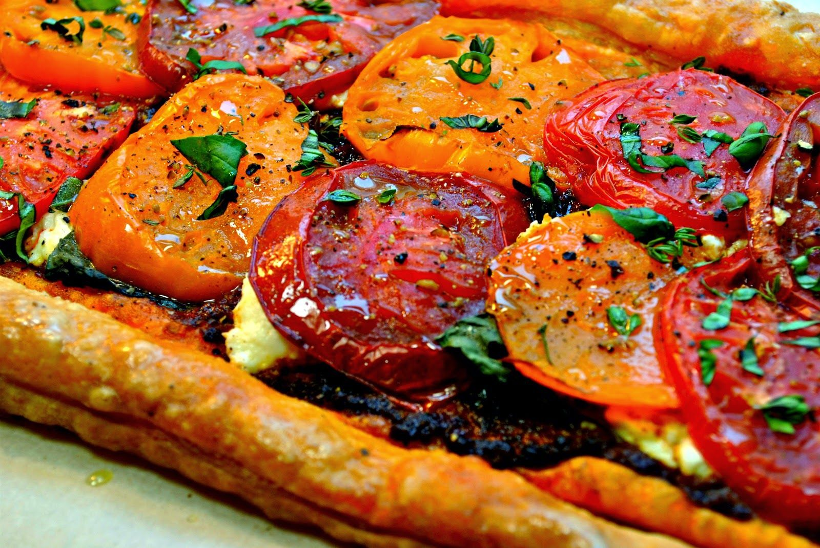 Double Tomato Tart with Ricotta and Basil | From Everyday to Gourmet