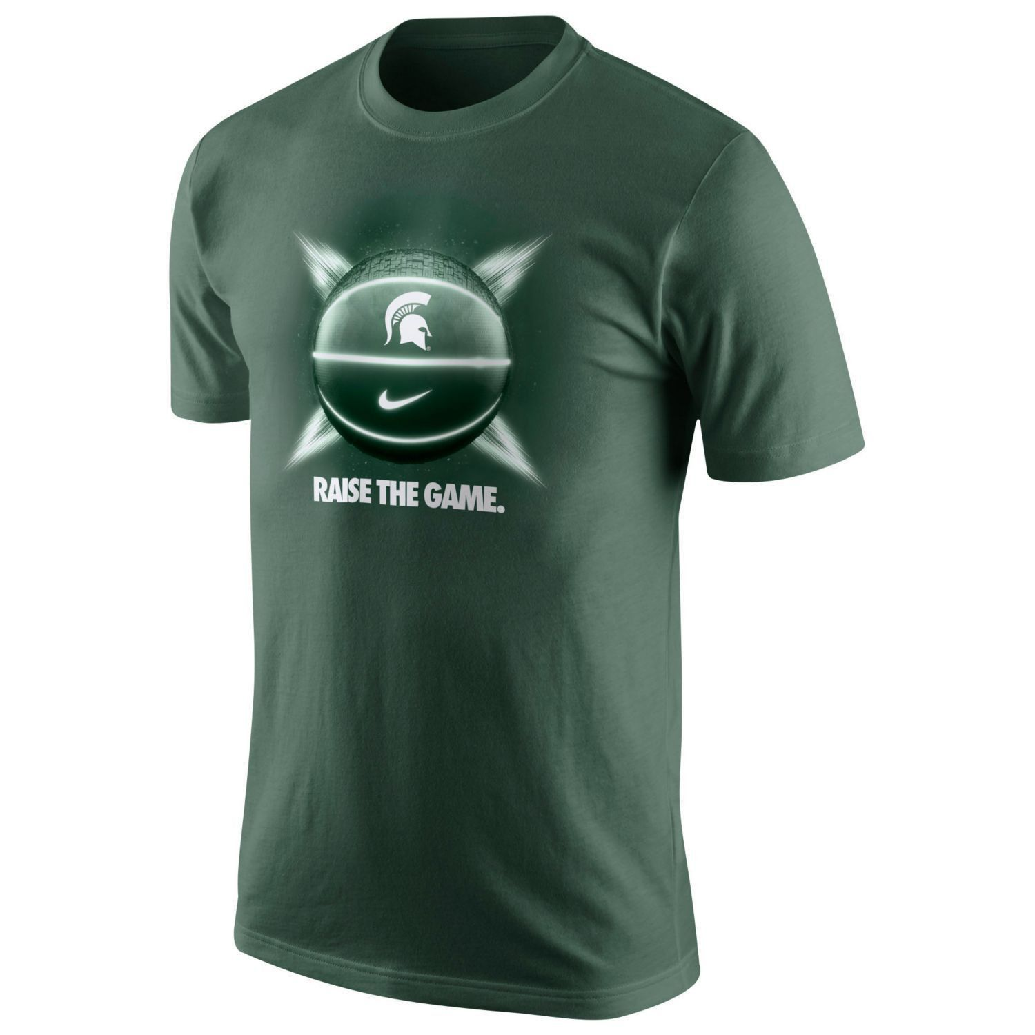 Michigan State Spartans Raise the Game Nike Dri Fit t-shirt NWT Sparty MSU