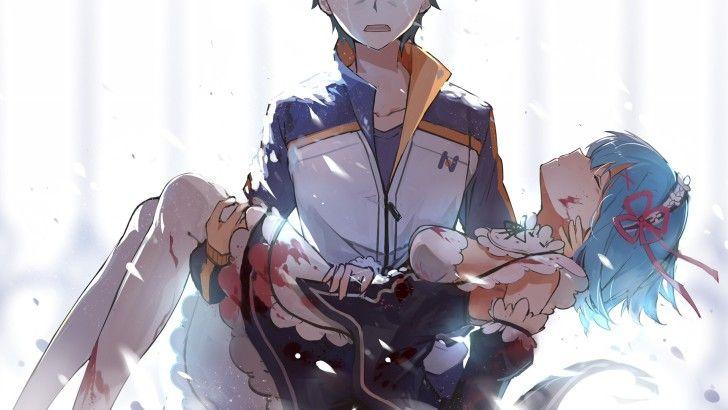 Subaru And Rem Re Zero Anime Art Wallpaper Re Zero Anime Kawaii Casais De Anime