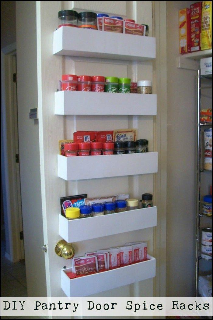Diy Pantry Door Spice Racks Pantry Door Storage Diy Pantry Door Spice Rack