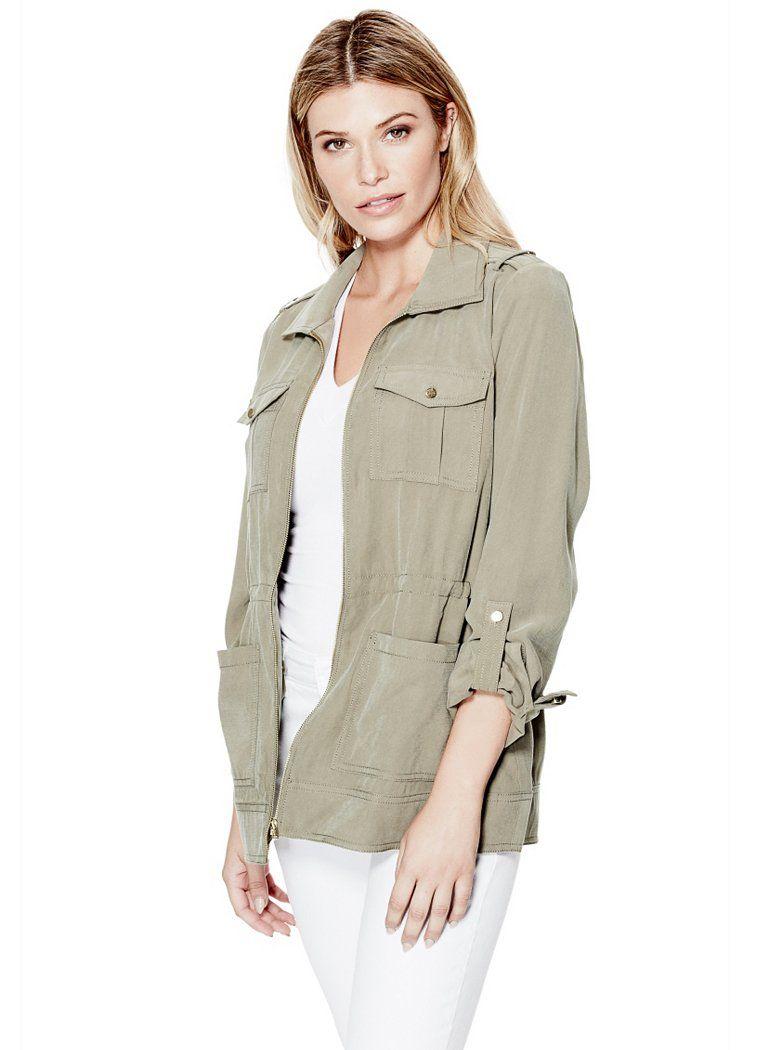 Mathilde Military Jacket | shop.GUESS.com