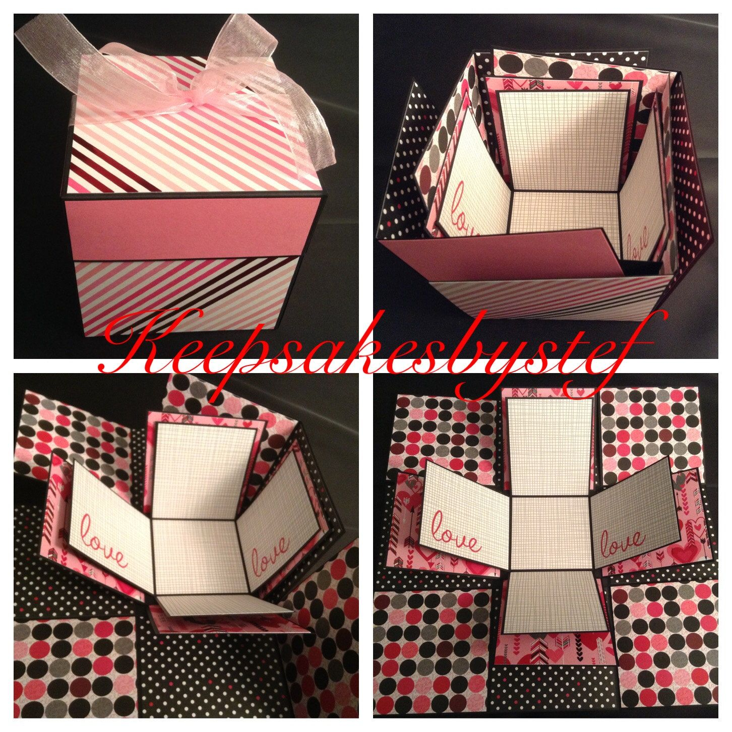Valentine S Day Explosion Box Love Exploding Box Ready To Ship By
