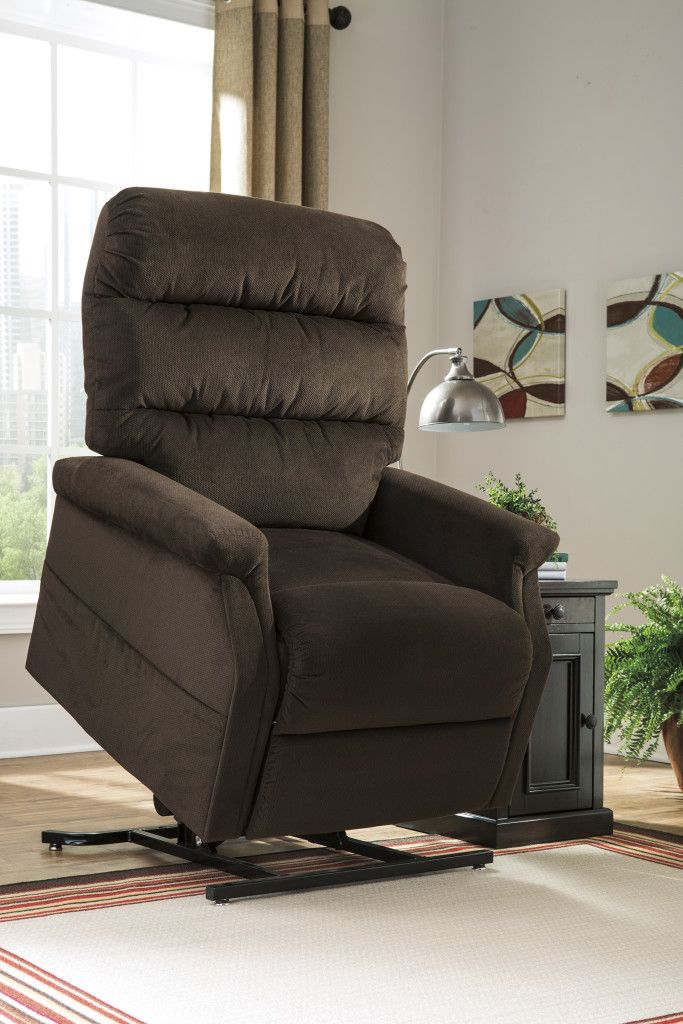 Ashley Brenyth Chocolate lift recliner in Houston