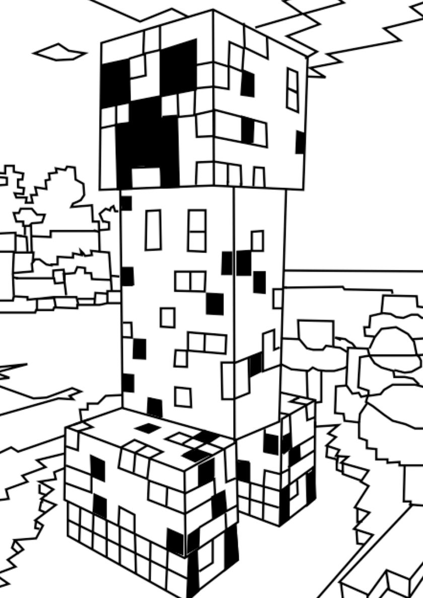Angry Creeper High Quality Free Coloring From The Category Minecraft More Printable Pictures On Minecraft Coloring Pages Coloring Pages Free Coloring Pages