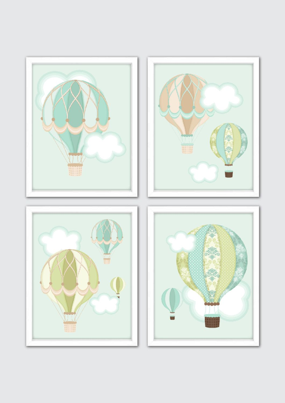 Hot Air Balloon Baby Shower Gift, Hot Air Balloon Nursery, Boys ...