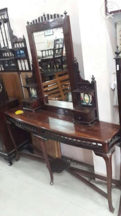 Antique Rosewood Dressing Table Chennai India Hardwood Furniture Furniture Table