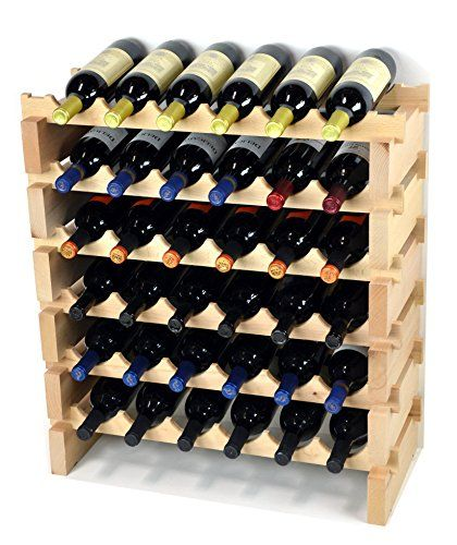 Amazon Com Rivet Modern Wood Wall Wine Rack 27 8 H Gold White