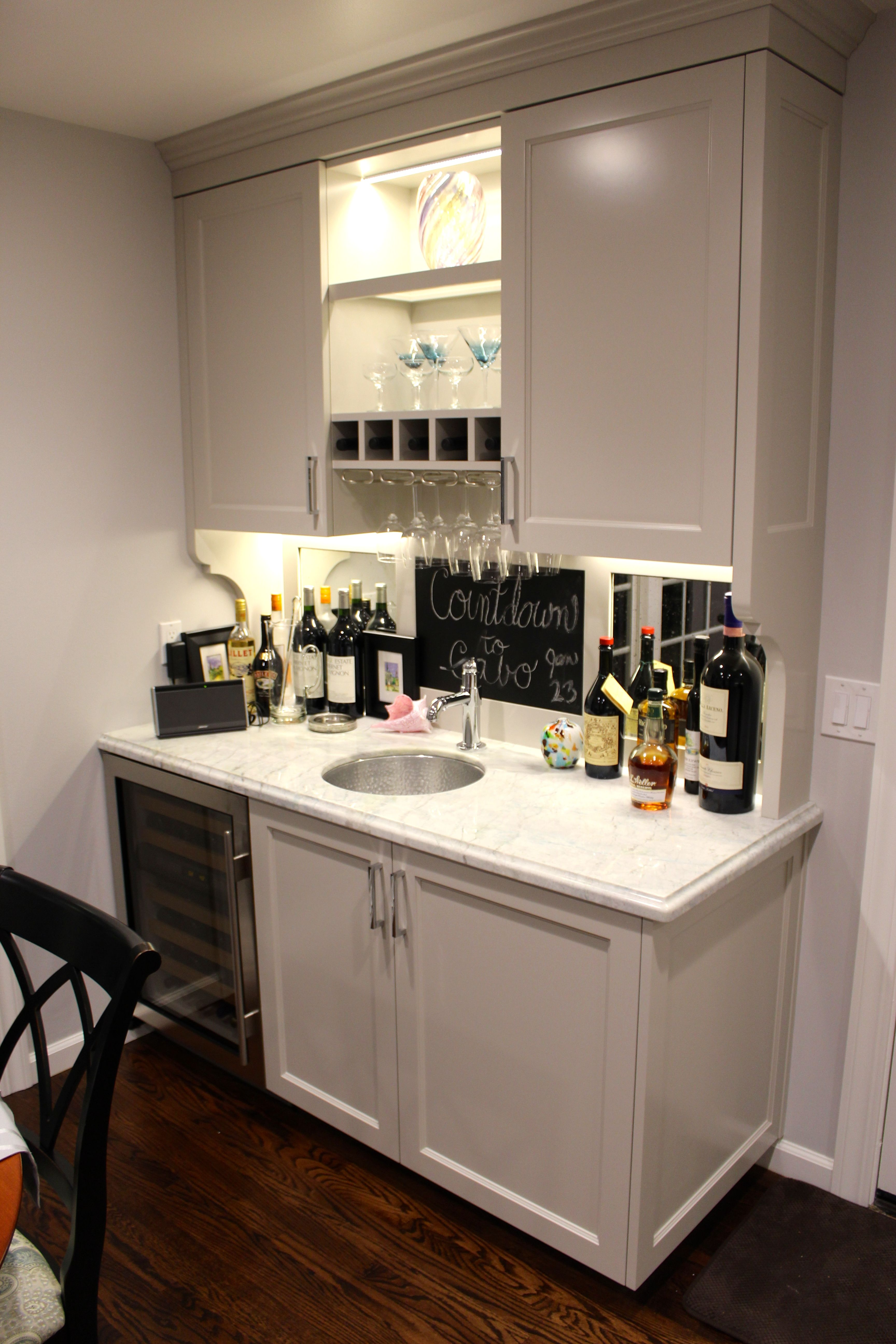 Sub zero counter depth refrigerator - Wet Bar With Sub Zero Wine Fridge