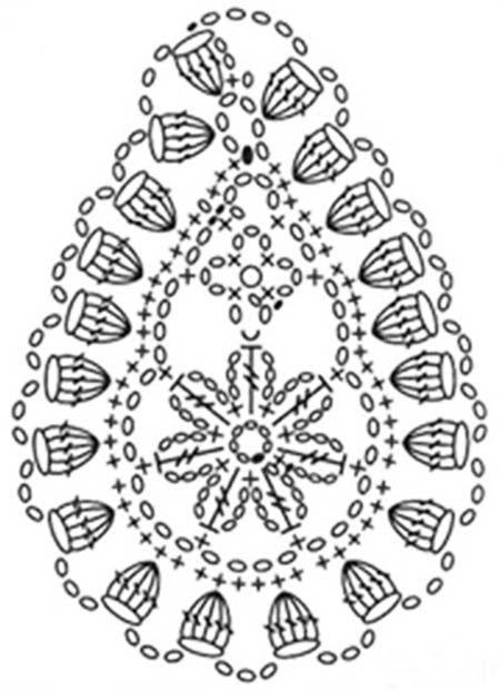 Crochet paisley, Irish crochet patterns, Hexagon crochet