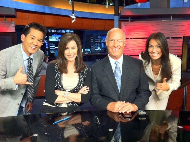 Fox 5 Evening News Team Ross Shimabuku Kathleen Bade Loren