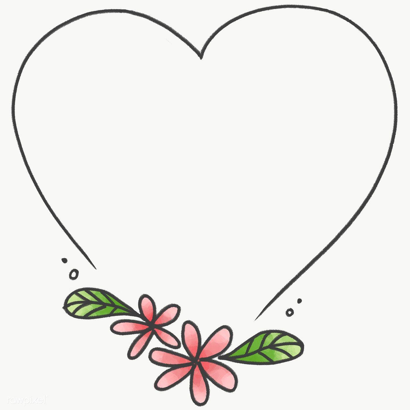 Doodle Heart Floral Frame Transparent Png Premium Image By Rawpixel Com Nunny Flower Pattern Drawing Floral Border Design Doodle Frames