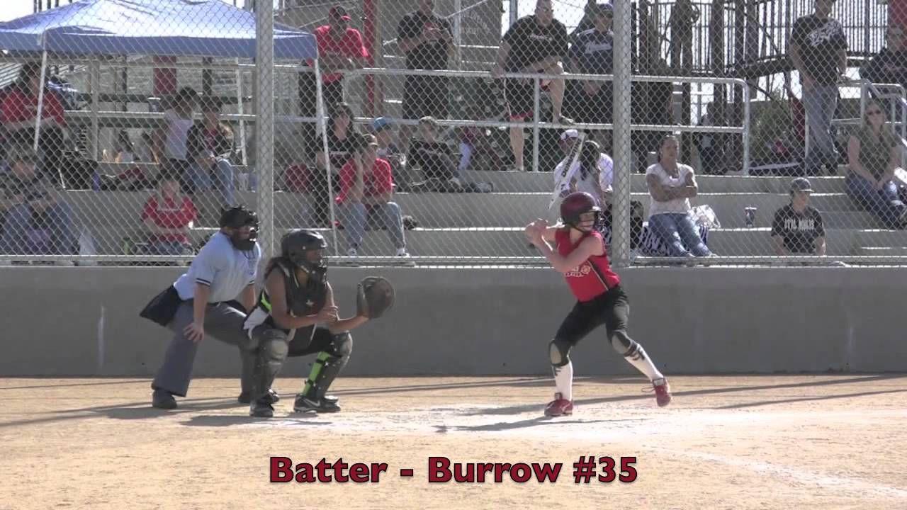 Emily Burrow RBI Single Vs Shockwave. Fast Pitch Softball