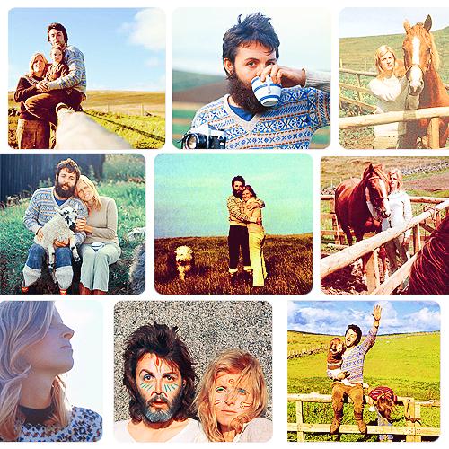 """""""Linda era uma mulher muito natural Ela adorava o ar fresco e da liberdade e da privacidade do campo Durante a dissolução dos Beatles, passamos muito tempo na Escócia -... Três a quatro meses Normalmente seria apenas duas semanas de férias. Nós amamos isso lá em cima. Era o fim do nada """".  Paul McCartney"""