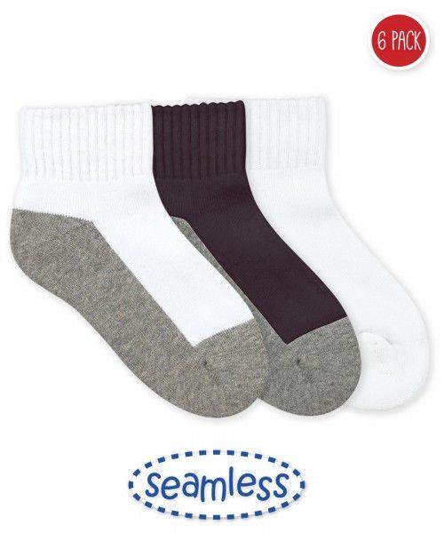 Jefferies Socks Boys Seamless School Uniform Rib Crew Socks 6 Pair Pack