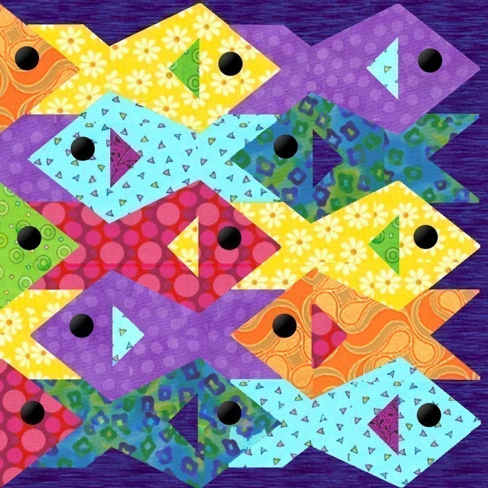 fish almost for designing deal found quilt that any fun was i materials a to great red combo seemed x quilts plus work of japanese me