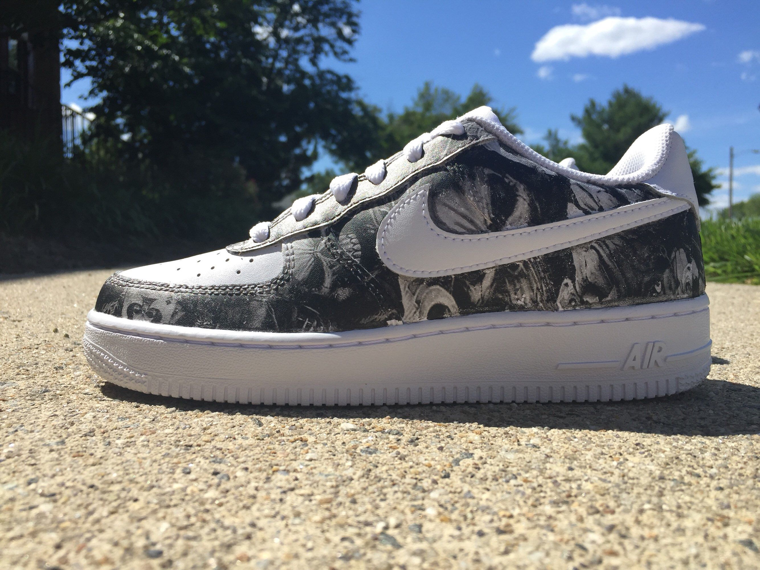 Skull Cust Air Force 1 (Hydrodipped) in 2020 Hydro