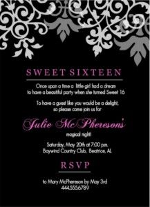 Sweet Birthday Invitation Templates Free My Birthday - Sweet 16 party invitation templates