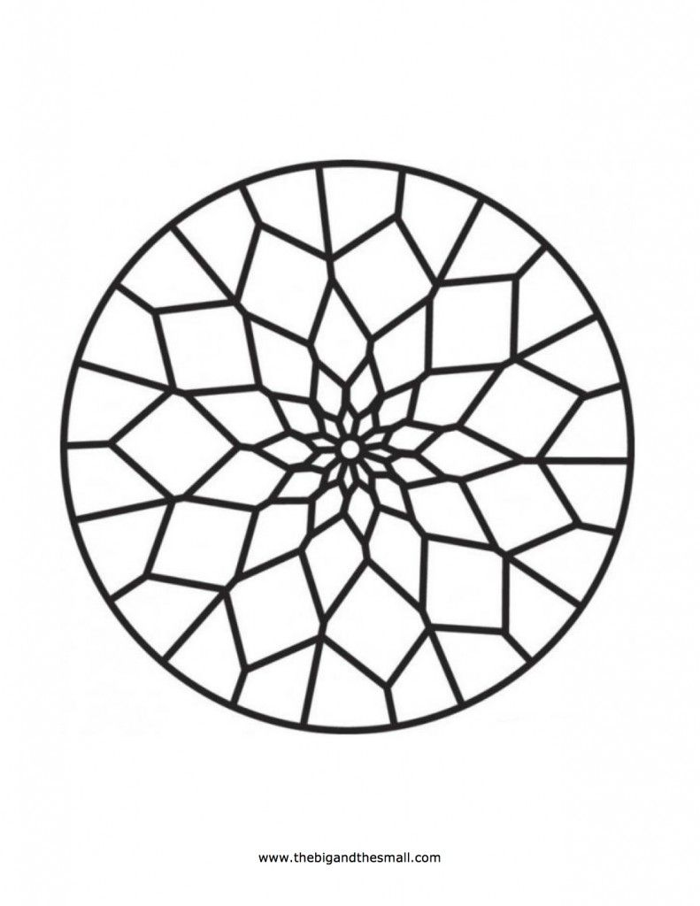 Islamic Patterns Coloring Pages | Mosaic patterns coloring ...