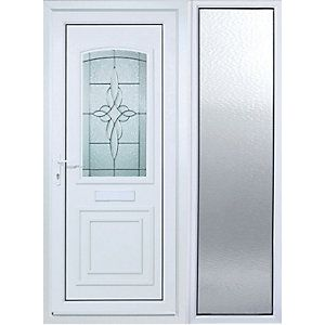 Wickes Medway 1 Sidelight uPVC Door 2085x1520mm Left Opening  sc 1 st  Pinterest & Wickes Medway 1 Sidelight Upvc Door 2085 x 1520mm Left Hand Hung ...
