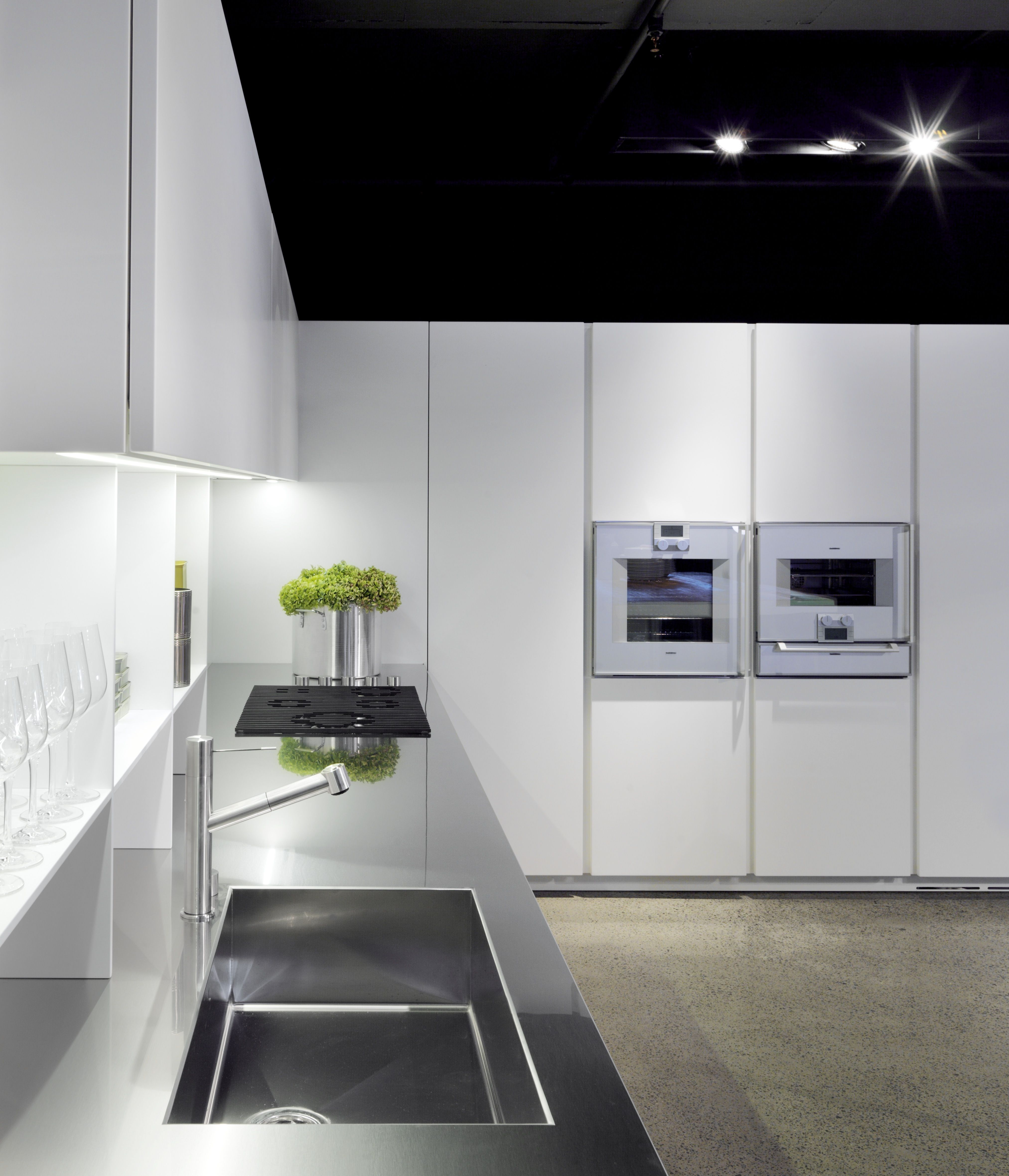 Boffi Cocinas Boffi Xila 09 Kitchen With Integrated Stainless Steel Sink