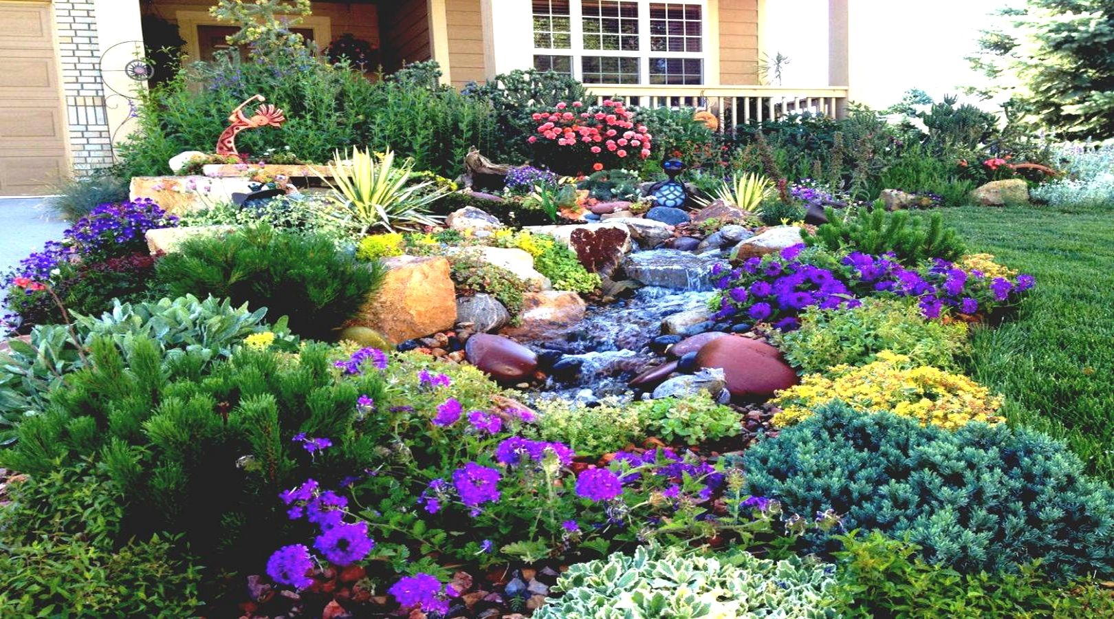 Colorado Front Yard Landscaping Ideas | Flower Garden Designs For Full Sun Flower  Garden Designs For