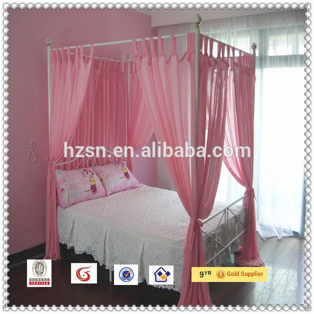 Source decorative nets four poster canopy bed mosquito net for ...
